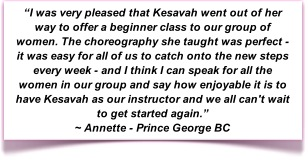 Belly Dance Semi-Private Classes with Kesavah
